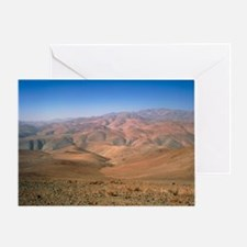 Foothills of the Andes, Atacama Dese Greeting Card