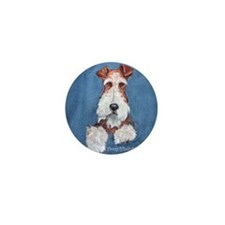 Wire Fox Terrier Portrait Mini Button