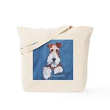 Wire Fox Terrier Portrait Tote Bag