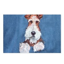 Wire Fox Terrier Portrait Postcards (Package of 8)