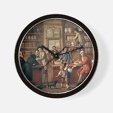 Italian apothecary, 18th century Wall Clock