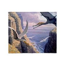 Flying pterosaurs Throw Blanket