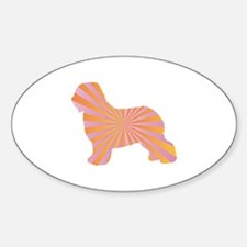 Schapendoes Rays Oval Decal