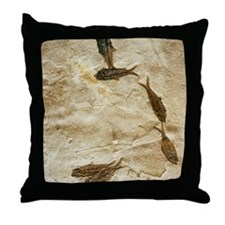 Fish fossils Throw Pillow