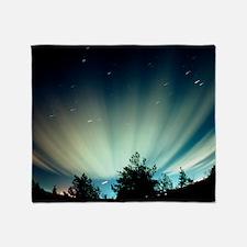 Fisheye lens photograph of the auror Throw Blanket