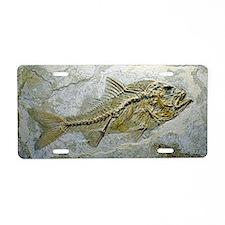 Fish fossil Aluminum License Plate