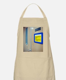 Infection control warning sign Apron