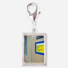 Infection control warning si Silver Portrait Charm
