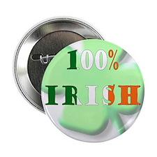 "100% Irish 2.25"" Button (10 pack)"