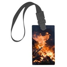 Flames from a bonfire Luggage Tag
