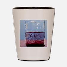 Ink diffusing through water Shot Glass