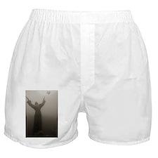 Christian religious statue underwater Boxer Shorts