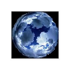 "Fisheye lens view of cloud  Square Sticker 3"" x 3"""