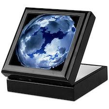 Fisheye lens view of cloud cover Keepsake Box