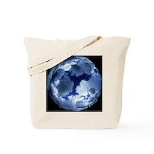 Fisheye lens view of cloud cover Tote Bag