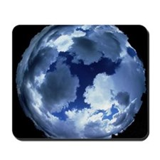 Fisheye lens view of cloud cover Mousepad