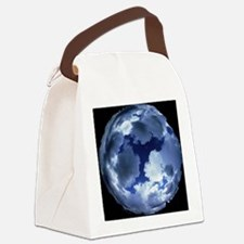 Fisheye lens view of cloud cover Canvas Lunch Bag