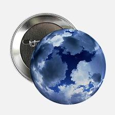 "Fisheye lens view of cloud cover 2.25"" Button"