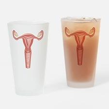 Female reproductive organs, artwork Drinking Glass