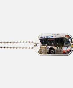 Hybrid bus in Chicago Dog Tags