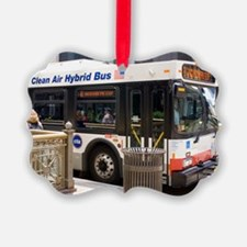 Hybrid bus in Chicago Ornament