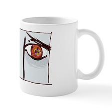 Fearful eyes, artwork Mug