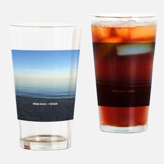 Michigan Summers = Heaven Drinking Glass