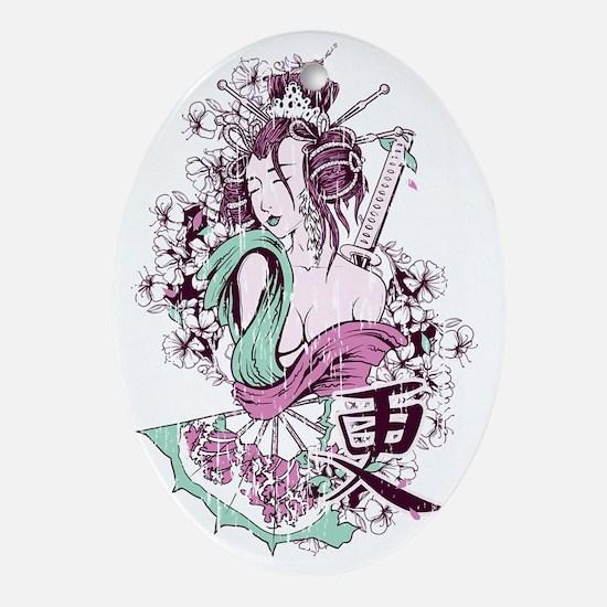 Geisha Oval Ornament
