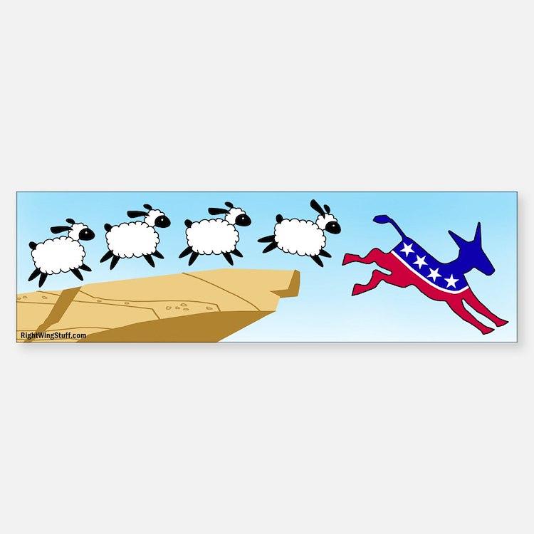 Follow the Liberal Bumper Bumper Bumper Sticker