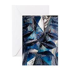 Fayalite crystals Greeting Card