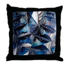 Fayalite crystals Throw Pillow