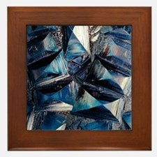 Fayalite crystals Framed Tile