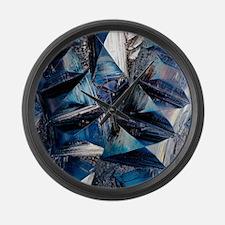 Fayalite crystals Large Wall Clock