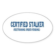 Certified Stalker Oval Decal