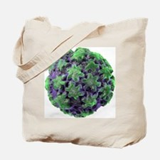 Human papilloma virus particle, artwork Tote Bag