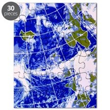 False-colour IR weather map, Europe Puzzle