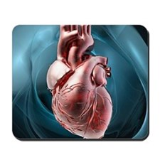 Human heart, artwork Mousepad