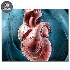 Human heart, artwork Puzzle