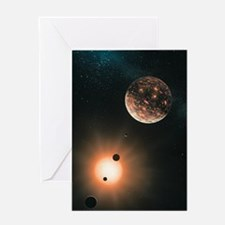 Extrasolar planets, artwork Greeting Card