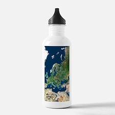 Europe, satellite imag Water Bottle