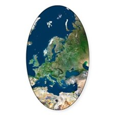 Europe, satellite image Decal