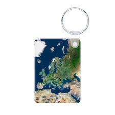 Europe, satellite image Keychains