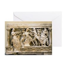 Etruscan carving, 2nd century BC Greeting Card