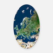 Europe, satellite image Oval Car Magnet