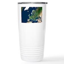 Europe, satellite image Thermos Mug