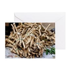 Horseradish roots Greeting Card