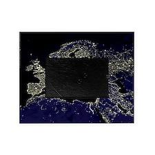 Europe at night, satellite image Picture Frame