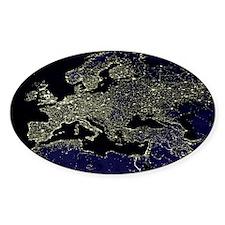 Europe at night, satellite image Decal