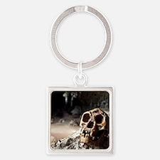 Homo floresiensis skull Square Keychain