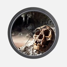 Homo floresiensis skull Wall Clock